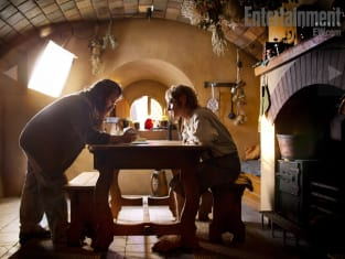 On Set with Bilbo Baggins