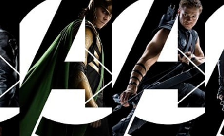 The Avengers Character Banner: Heroes in Action