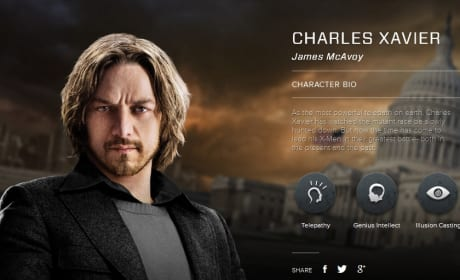 X-Men Days of Future Past Charles Xavier Bio Banner