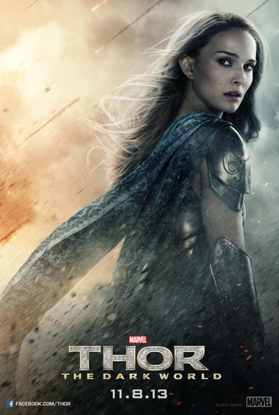 Natalie Portman Thor: The Dark World Poster