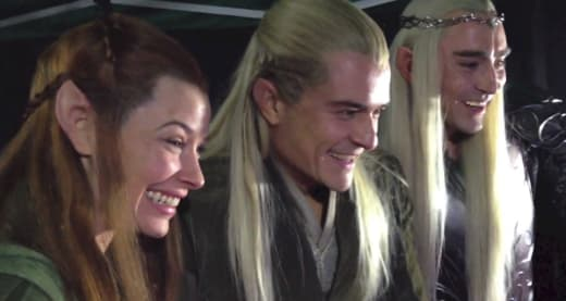 The Hobbit The Battle of the Five Armies Lee Pace Evangeline Lilly Orlando Bloom