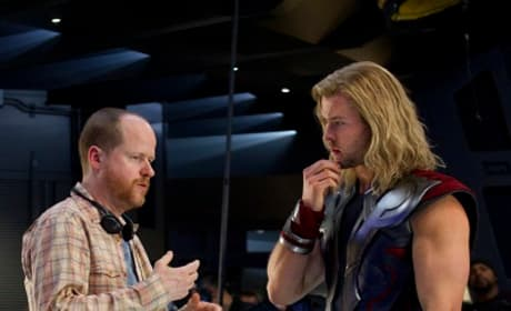 Chris Hemsworth and Joss Whedon Film The Avengers