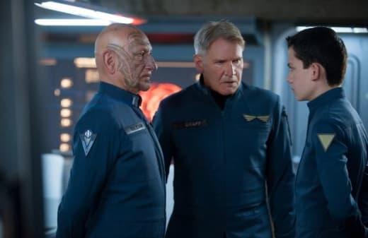Ender's Game Ben Kingsley Harrison Ford Asa Butterfield