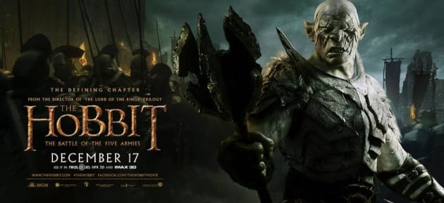 The Hobbit: The Battle of The Five Armies Official Banner