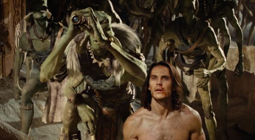 Willem Dafoe and Taylor Kitsch in John Carter