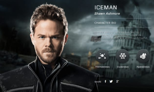 X-Men Days of Future Past Iceman Bio Banner