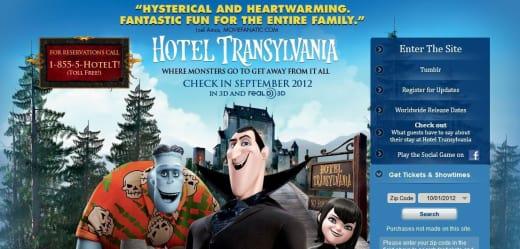 Hotel Transylvania Website: Movie Fanatic Quoted
