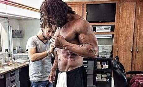 Dwayne Johnson Hercules Make-Up