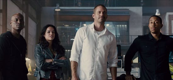 Furious 7 Paul Walker Michelle Rodriguez Tyrese Gibson