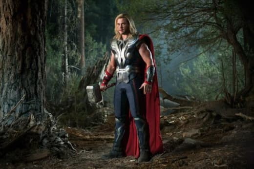The Avengers: Chris Hemsworth is Thor