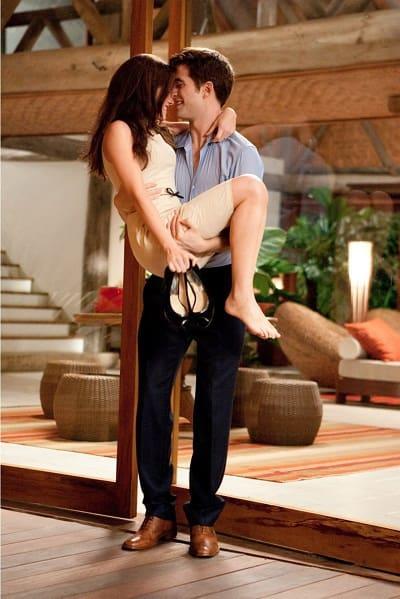 Kristen Stewart and Robert Pattinson are Bella and Edward in The Twilight Saga: Breaking Dawn Part 1