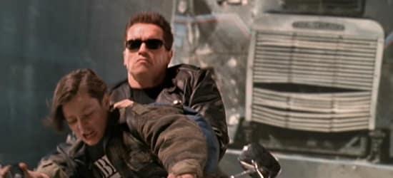 Edward Furlong Arnold Schwarzenegger Terminator 2
