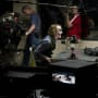 The Dark Knight Christian Bale Heath Ledger Set Photo