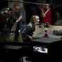 The Dark Knight Christian Bale Heath Ledger Set Photo