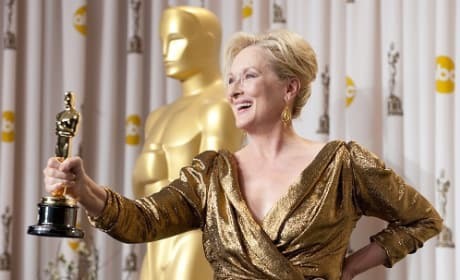 Meryl Streep Chats Oscar Win Backstage