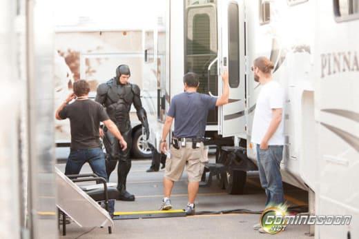 Joel Kinnaman RoboCop Set Photo