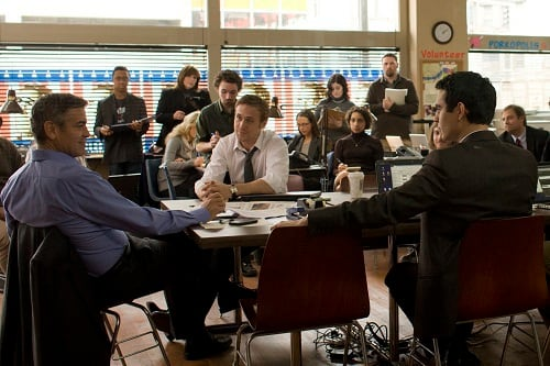 George Clooney, Ryan Gosling and Max Minghella in The Ides of March
