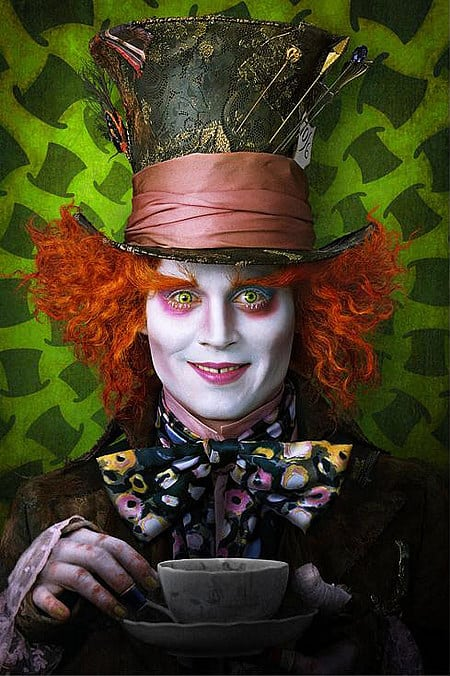 Johnny Depp as the Mad Hater
