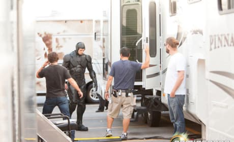 Joel Kinnaman RoboCop Set Photo