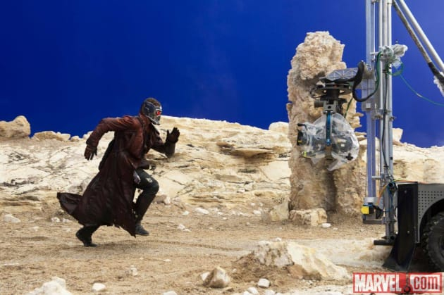 Guardians of the Galaxy Star Lord Filming