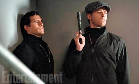 The Man from U.N.C.L.E. Henry Cavill Armie Hammer Photo
