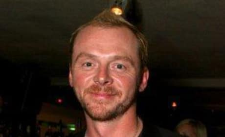 Simon Pegg in a blazer
