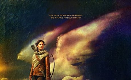 Catching Fire Poster: Katniss on a Mountain