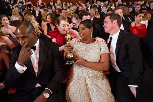Octavia Spencer with her Oscar