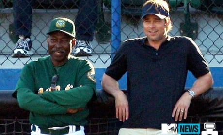 First Photos of Brad Pitt and Philip Seymour Hoffman From the Set of Moneyball!