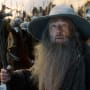 The Hobbit The Battle of the Five Armies Photos: Gandalf Eyes Trouble!