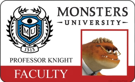Professor Knight Monsters University Student ID