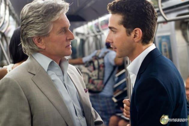 Gekko and Moore Talk on the Subway