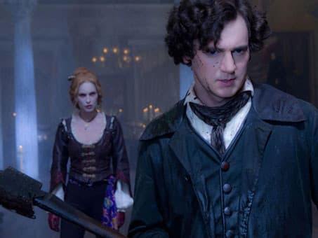 Erin Watson and Benjamin Walker in Abraham Lincoln: Vampire Hunter