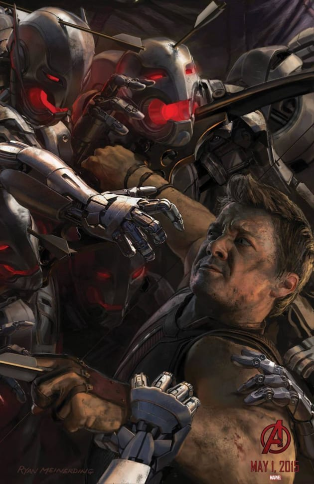 Avengers: Age of Ultron Hawkeye Concept Art Poster