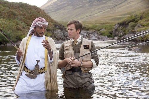 Amr Waked and Ewan McGregor in Salmon Fishing in the Yemen