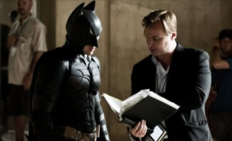 The Dark Knight Christian Bale Christopher Nolan Set Photo
