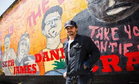 This Is The End: James Franco Paints An All-Star Mural