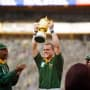 Pienaar Holds Up the Cup