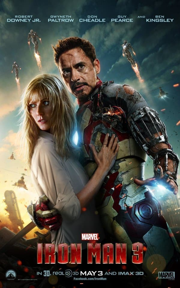 Iron Man 3 Pepper Tony Poster