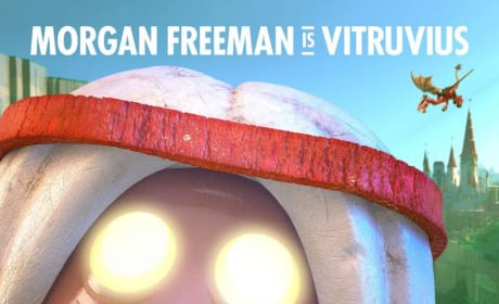 The LEGO Movie Vitruvius Morgan Freeman Poster