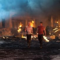 Bruce Willis and Jai Courtney A Good Day to Die Hard Image