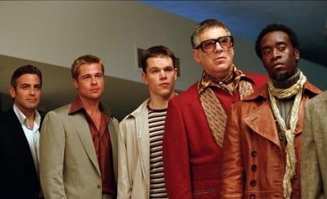 George Clooney Matt Damon Elliott Gould Ocean's 11