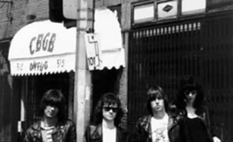 The Ramones In Front of CBGB