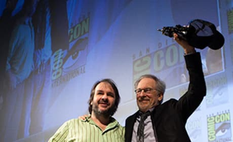 Peter Jackson and Steven Spielberg at Comic-Con