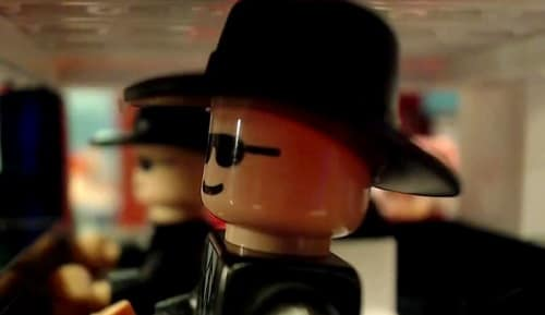 blues brothers mall chase scene done with legos movie