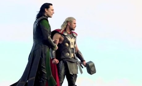 Chris Hemsworth and Tom Hiddleston Thor The Dark World