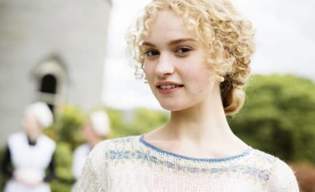 Lily James Cast as Cinderella