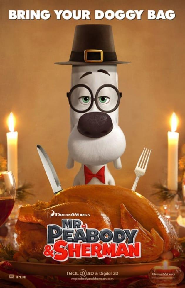 Mr. Peabody & Sherman Thanksgiving Poster
