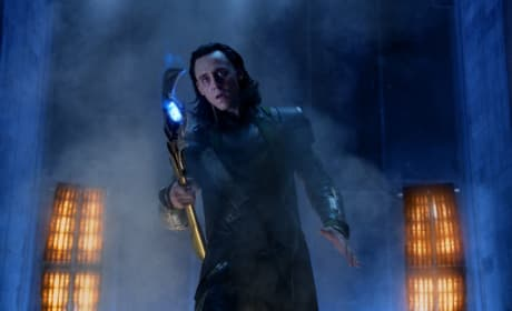 Tom Hiddleston is Loki in The Avengers