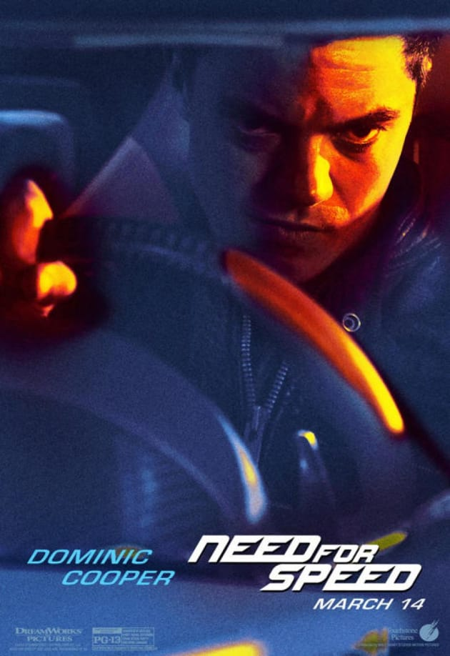 Need for Speed Dominic Cooper Poster